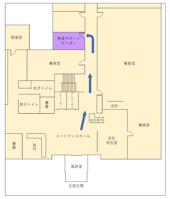 患者サポートセンター案内図